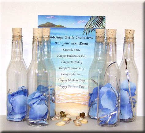 wedding invitations in a bottle message in a bottle invitations invitations ideas