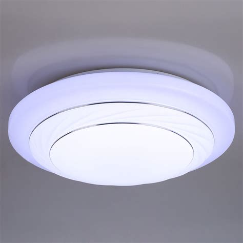 Flush Mount Led Ceiling Light Fixtures Modern 24w Led Lighting Light Fixtures Ceiling Lights L Flush Mount Usa Ebay