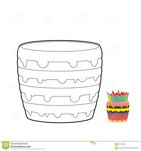 layer cake coloring pages cake coloring book confectionery for birthday stock