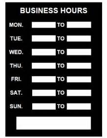 store hours template free business hours sign template printable pdf