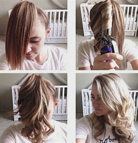 barrel curls ponytails how to curl all of your hair in just 4 quick steps blogs