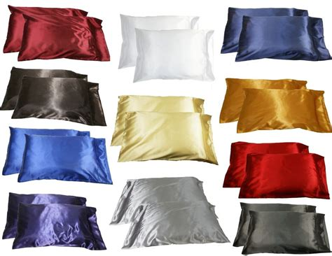 pillow casses 2pc new standard silk y satin pillow