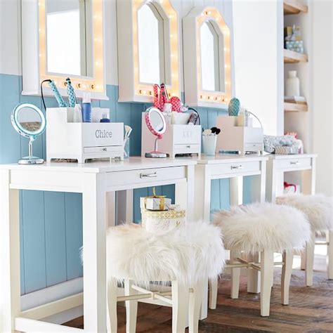 glam mirrored vanity stool glam bedroom pinterest glam vanity stool pbteen