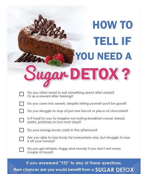 When Do You Need Detox by The 6 Week Sugar Detox Program Eat Sleep Move