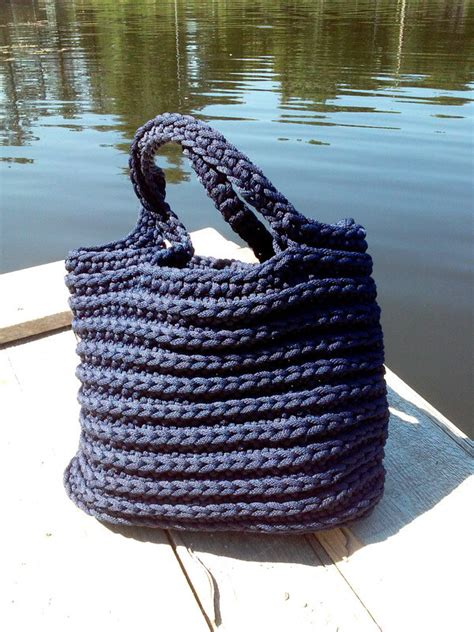 Handmade Rope - knitted bag rope crochet bag handmade bag sack handmade boho