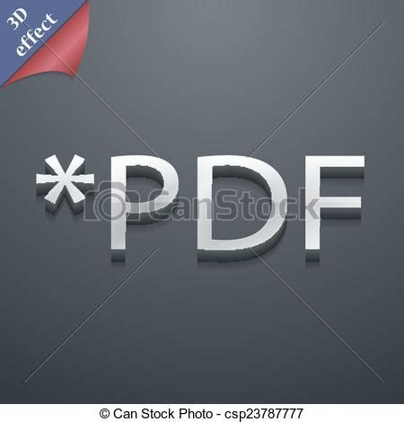 vector space tutorial pdf pdf file extension icon symbol 3d royalty free eps