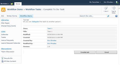 nintex workflow task list build a better nintex workflow assign to do task form