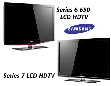 samsung unveils series 7 and series 6 650 1080p lcd hdtvs at ces techgadgets