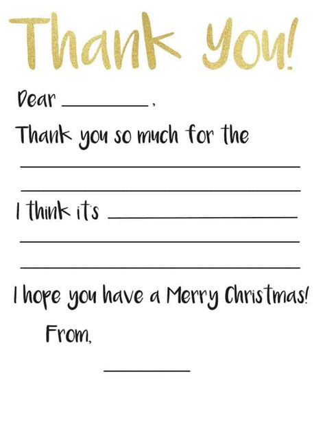 thank you card template with lines kid s thank you card printable the happier homemaker