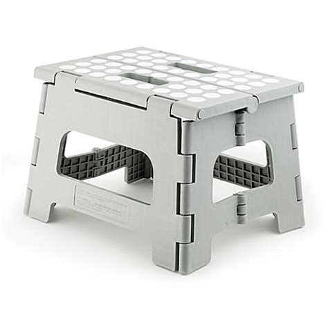 Kikkerland Rhino Folding Step Stool by Kikkerland Design Rhino Ii Step Stool In Grey Bed Bath