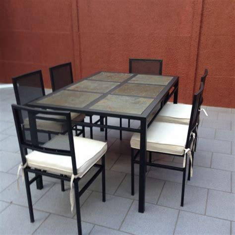 comedor de terraza comedor de fierro modelo estaci 211 n central 6 sillas rusti