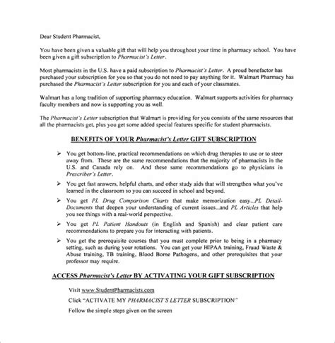 The Pharmacist Letter by 15 Pharmacist Letters Free Sles Exles Format