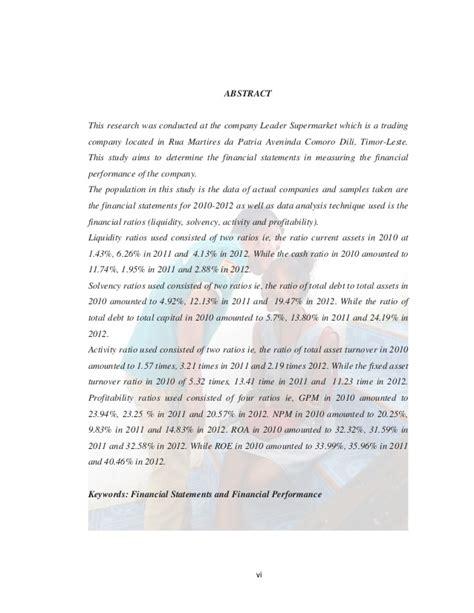 skripsi akuntansi analisis laporan keuangan skripsi laporan keuangan untuk mengukur kinerja keuangan