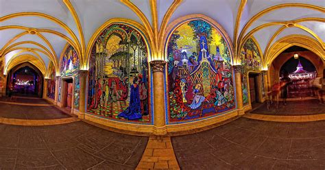 Princess Castle Wall Mural magic kingdom cinderella castle gateways inside the