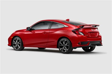 2017 Honda Civic Si Coupe Rear Three Quarter 1 Motor Trend