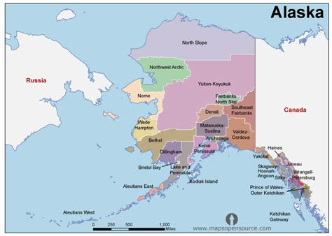 usa map with alaska free alaska map map of alaska state usa open source