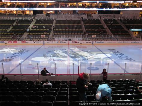 section 11 d lower level center ppg paints arena hockey seating
