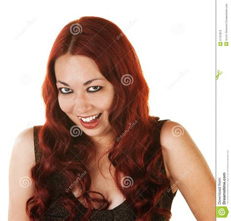 hair coloring ideas for latino womean giggling hispanic woman stock image image of cute mood