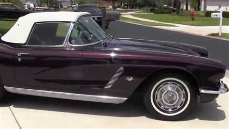 1962 corvette menonthejobcars restored 350 4 speed posi for sale black cherry paint
