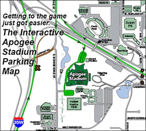 unt parking map gameday central official athletic site
