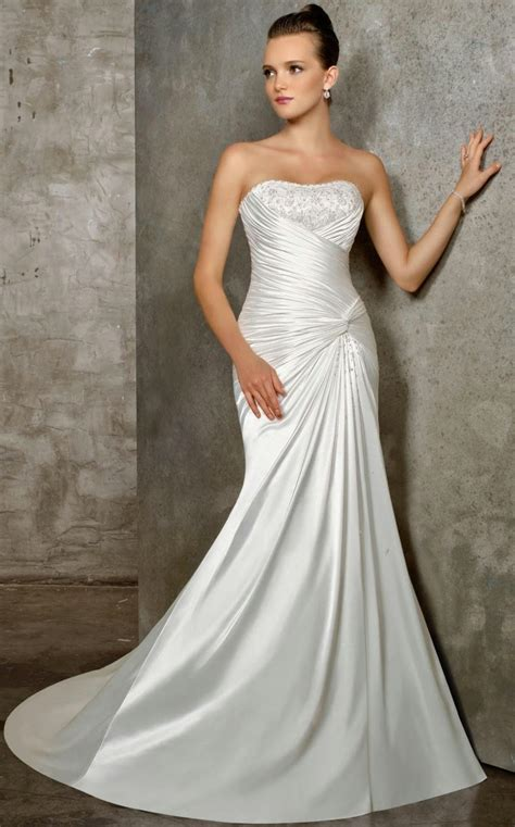 find elegant simple wedding dress 2014 column wedding