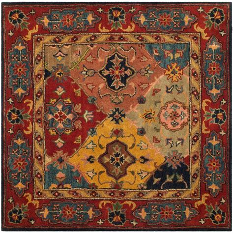 4 square rug safavieh heritage multi 4 ft x 4 ft square area rug hg926a 4sq the home depot