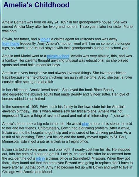 amelia earhart biography in english amelia earhart mini bio amazing amelia pinterest