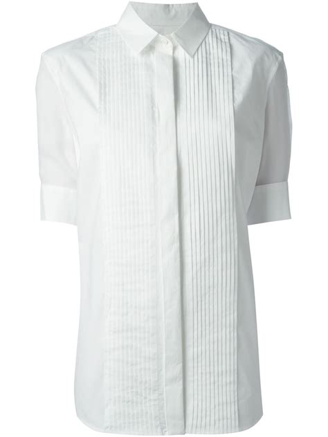 Pleated Shirt mcq pleated shirt in white lyst