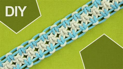 Easy Macrame Belt Patterns - square knot variations with eight strings diy tutorial