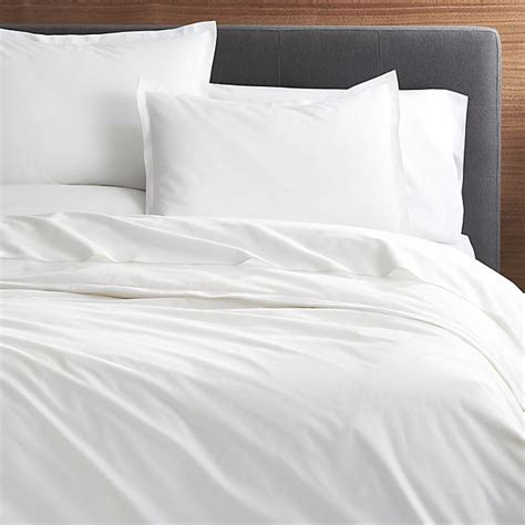 Duvet Pillows Belo White Duvet Covers And Pillow Shams Crate And Barrel