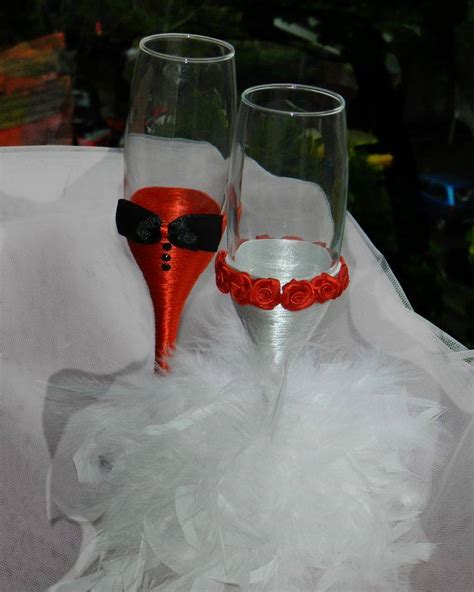 Diy Glasses diy wedding chagne glasses ideas