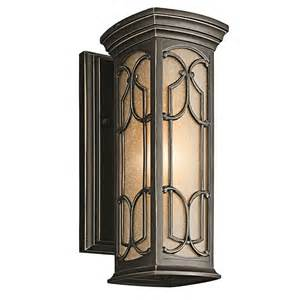Kichler Lighting Outdoor Kichler Outdoor Lighting 49226 Franceasi Collection Sconce Traditional