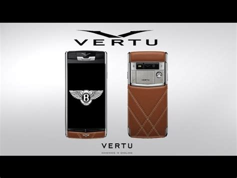 bentley vertu the vertu for bentley limited edition youtube