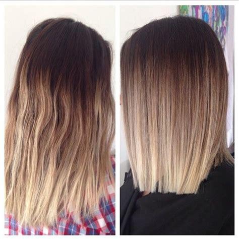 ombre balayage color melt blonde highlights long bob wymarzone włosy ombre w fryzury szafa pl