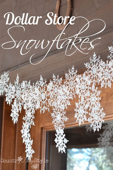 Snowflake Hanging Decoration dollar store snowflakes glue guns dollar stores and