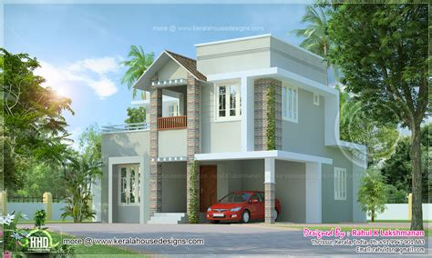 small villa design small cute villa in 1354 square feet kerala home design