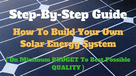grid solar build your own affordable grid solar system books how to build your own solar energy system solar on a budget
