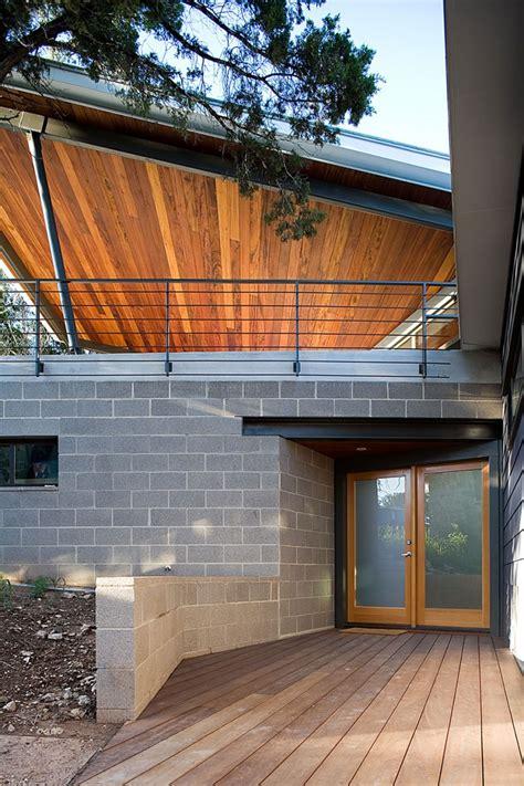 modern home built between canopies in