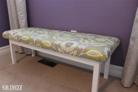 how to make a padded bench km decor diy upholstered bench