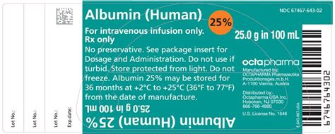 Albumin Human 25 100ml By Aquashop albumin human 25 these highlights do not include all