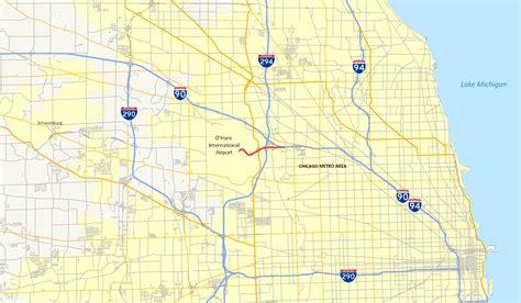 chicago expressways map chicago freeway map afputra