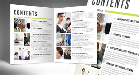 table of contents indesign template automatic magazine table of contents indesign template