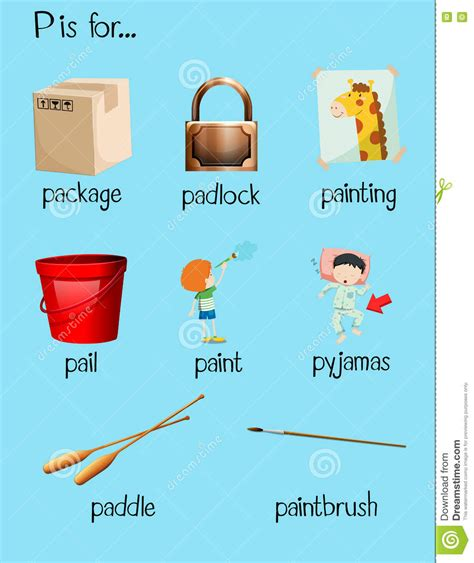 4 Letter Words Beginning With P words with letter p clipart cliparts suggest cliparts