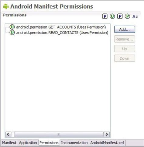 android manifest permission introduction to android development using eclipse and android widgets