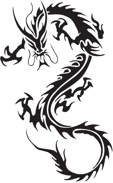 dragon tattoo meaning strength dragon tatto symbolizes strength tribal art ideas