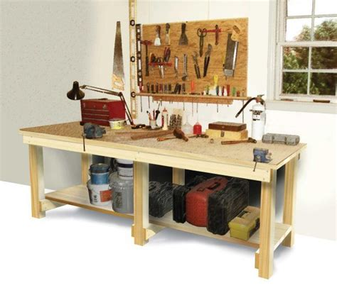build work bench 49 free diy workbench plans ideas to kickstart your