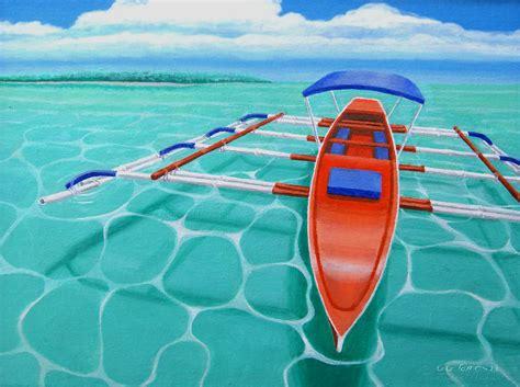 vinta boat drawing vinta painting by gg james