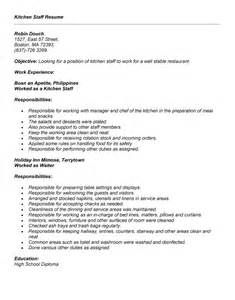 resume samples kitchen hand bestsellerbookdb