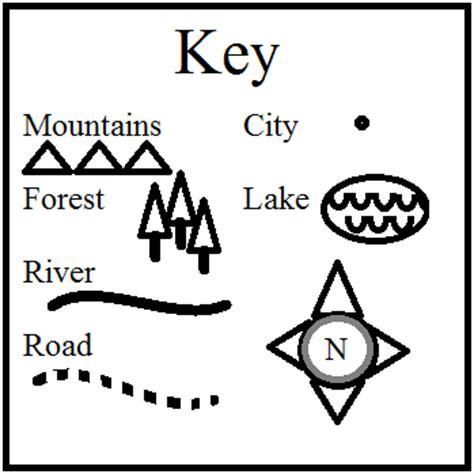printable map key artistry of education mapping the setting key symbols
