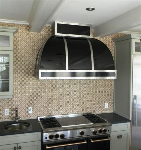 unique range hoods custom range hoods striking black with stainless and